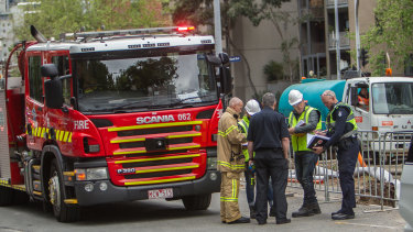 Four men were injured in the industrial incident on Saturday.