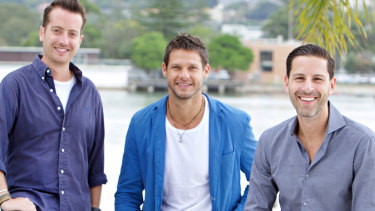 Whizz founders Adam Abrams, Julian Tobias and Mark Bernberg