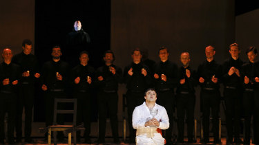 Teddy Tahu Rhodes and James Roser in Parsifal.