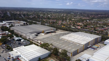 Amazon's new distribution centre  in Moorebank, Sydney.