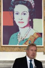 British ambassador Kim Darroch, pictured hosting an event at the British Embassy in Washington.