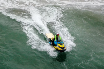 The number of jet ski rescues increased markedly in the recent summer.