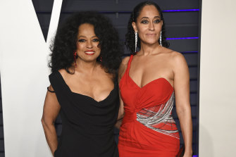 Tracee Ellis Ross with her mother Diana at last year's Vanity Fair Oscar Party.