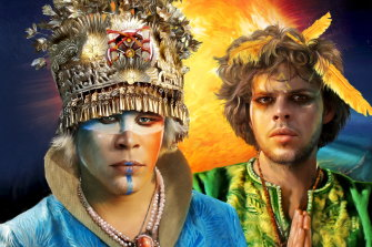 A publicity image of Empire of the Sun's Luke Steele and Nick Littlemore from 2009.