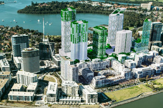 An artist's impression of the proposed new residential tower blocks at Rhodes.