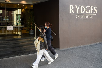 The Rydges on Swanston hotel was guarded by Unified.