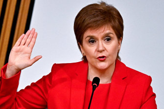 First Minister Nicola Sturgeon gives evidence to a Scottish Parliament committee examining her handling of harassment allegations against former first minister Alex Salmond.