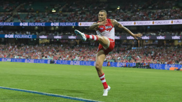 Virtually untradeable: Lance Franklin.