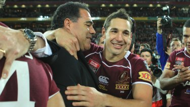 Exception: Mal Meninga believes his former Queensland fullback Billy Slater did not act against the spirit of the game with his tackle on Sosaia Feki.