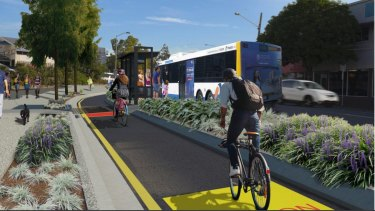 The construction of the  Woolloongabba Bikeway will remove 30 carparks