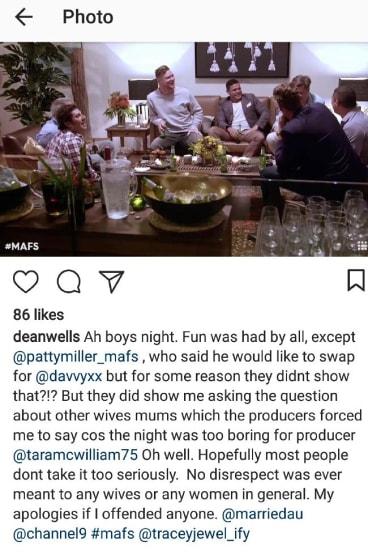 Dean's original post, before it was edited.