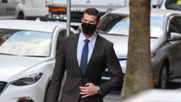 Ben Roberts-Smith outside the Federal Court in Sydney on June 28.