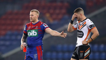 Adam Doueihi's expression summed up the Tigers' night in Newcastle.
