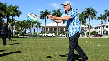 Prime Minister Scott Morrison in Fiji on Friday.
