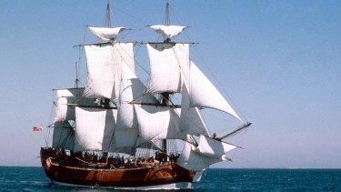 The Australian National Maritime Museum's Endeavour replica.