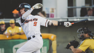 Canberra Cavalry's Robbie Perkins, pictured, has resigned with the club for another two years.
