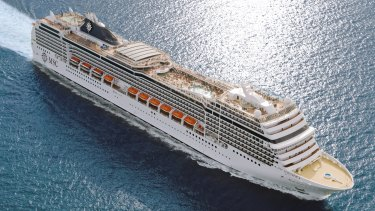 MSC Magnifica, which is steaming for Fremantle with 250 suspected COVID-19 passengers.
