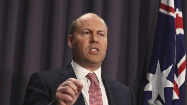 Treasurer Josh Frydenberg unveiled the details of the government's media bargaining code to force Google and Facebook to compensate news organisations at Parliament House on Tuesday.