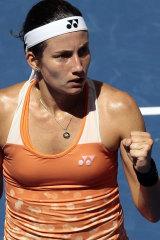 Big win: Anastasija Sevastova is into the semi-finals.