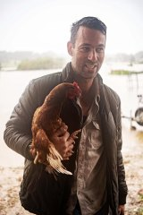 Dan Streat with Yasmin, his chicken.