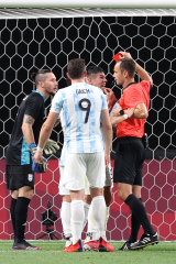 Francisco Ortega's red card was a big turning point.