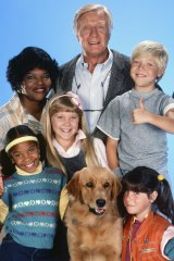 The original Punky Brewster starred Soleil Moon Frye (bottom right) as Punky and George Gaynes (top) as foster dad Henry Warnimont.