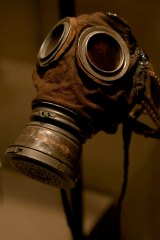 Gas protection clothing as seen at The WWI Centenary Exhibition at Melbourne Museum in 2015.