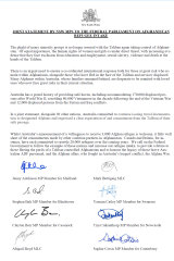 Joint statement signed by 57 NSW MPs