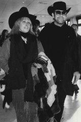 Zandra Rhodes with Elton John in 1981.