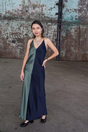 Anastazia Grzybowski at Mercedes-Benz Fashion Week.