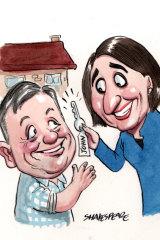 John Brogden was appointed chief executive of Landcom last year. Illustration: John Shakespeare