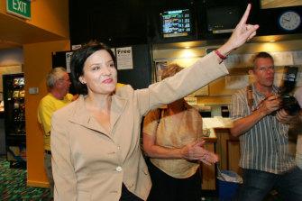 Election night 2007: Labor candidate Jodi McKay at the Newcastle Jockey Club.