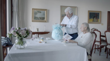 A scene from What Will Become of Us with Frank and Shirley Lowy.