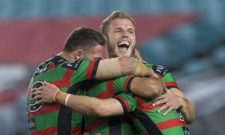 Glory, glory days: The Rabbitohs have had plenty to smile about again this year.