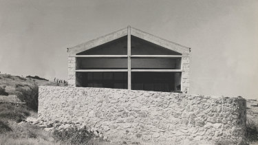 The house at Sparoza soon after it was built in the 1960s