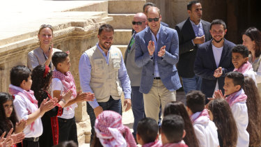 Prince William meets with a group of young people from the Makani Center.