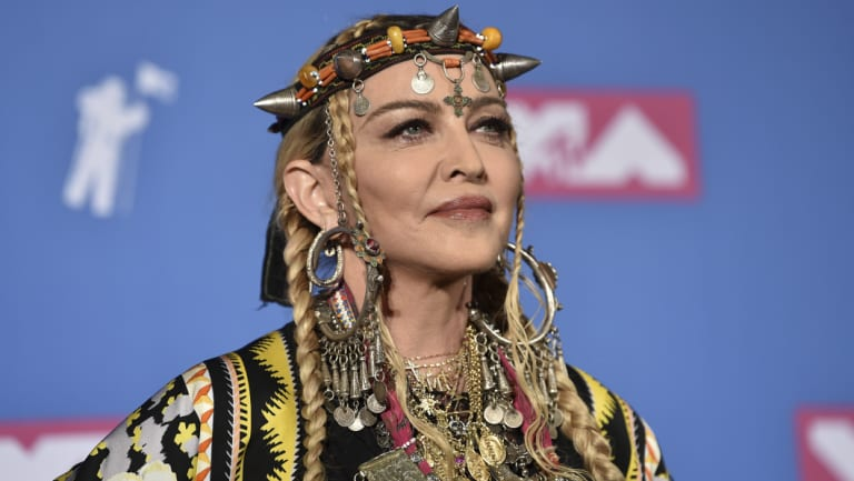 Madonna at the MTV Video Music Awards at Radio City Music Hall, New York, on Monday night.