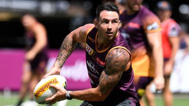 New regime: Darius Boyd during pre-season training in Brisbane.