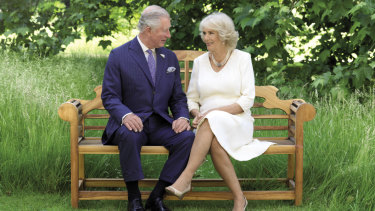 Prince Charles and Camilla, Duchess of Cornwall, pictured in the grounds of Clarence House.