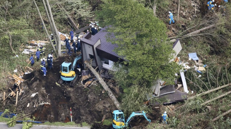 The search for missing people after the Japan earthquake.