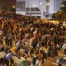 Unions baulk at Hong Kong trade deal amid unrest