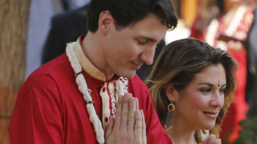Justin Trudeau and his wife, Sophie, in India last year.