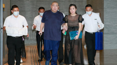 Hong Kong billionaire Joseph Lau Luen Hung and his wife Chan Hoi-wan.