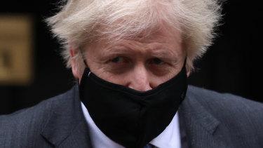 British Prime Minister Boris Johnson leaves 10 Downing Street.