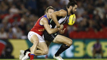 All-Australian Brodie Grundy dominated the hit-outs.