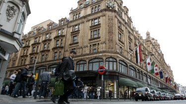The Harrods department store in London, scene of the alleged shopping spree.