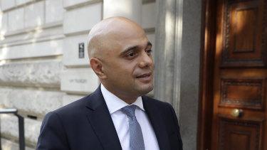 Britain's new Chancellor Sajid Javid.