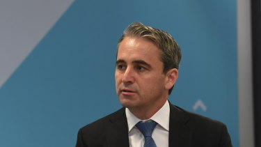 CBA chief Matt Comyn said the bank expected downward pressure on house prices.