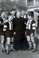 St Patrick's College. Ballarat. Brother William O'Malley and George Pell to O'Malleys left with other members of the 1st XVIII premiership side of 1959.