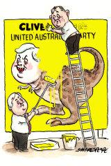 Clive Palmer and Craig Kelly.